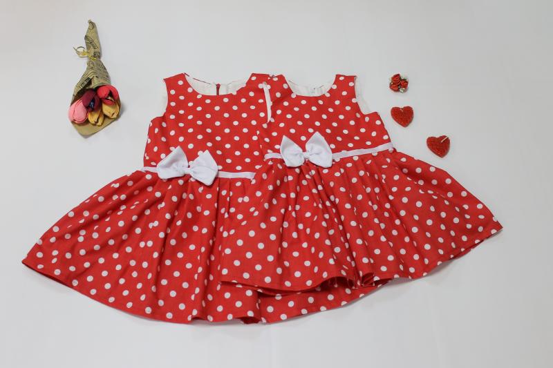 Платье в горошек на девочку № 105