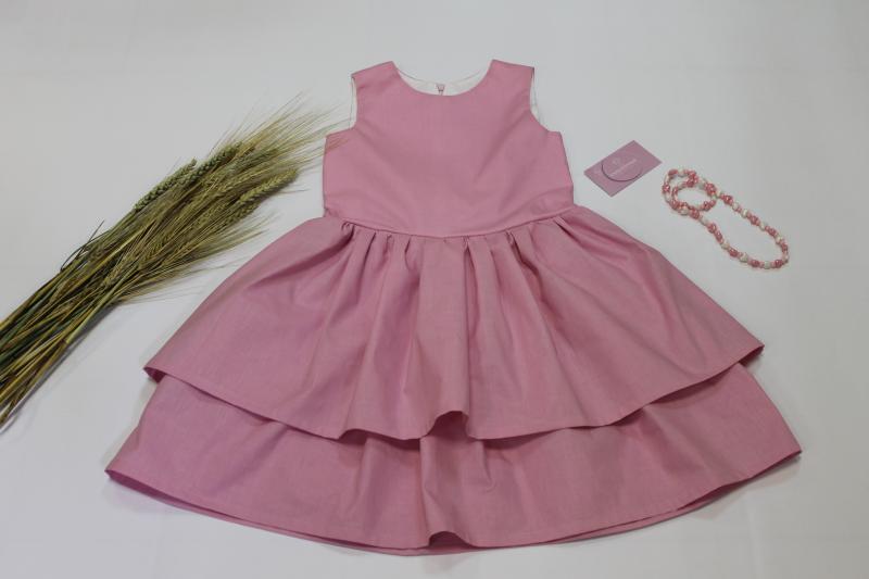 Летнее гламурное платье на девочку № 111