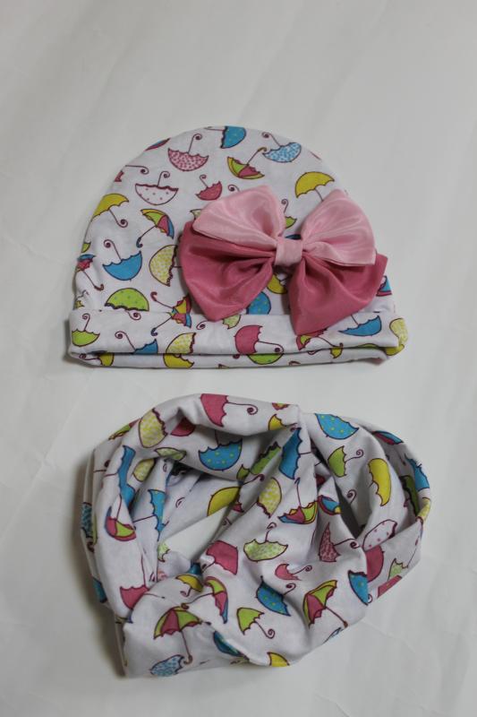Гламурный наборчик: шапочка и хомут