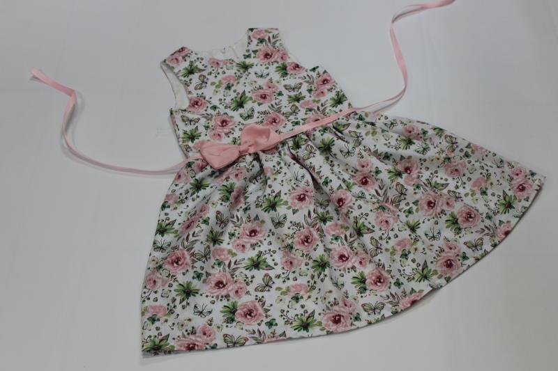 Летнее платье на девочку  Розовое счастье  №1