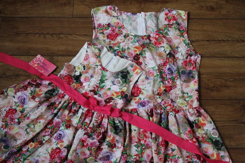 Гламурные летние платья в стиле  Family look  - Розовые розочки