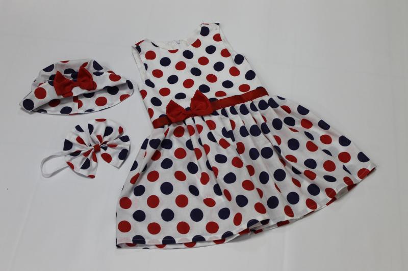 платье на девочку в горошек № 104