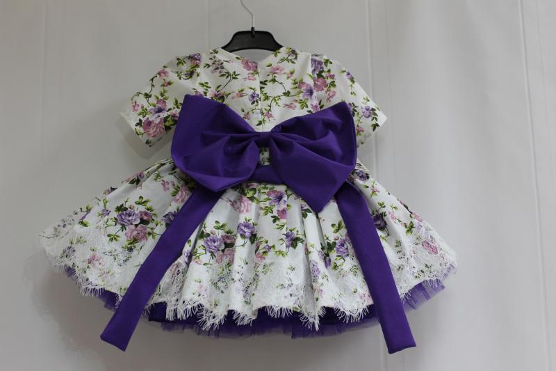 Нарядное платье на девочку с фиолетовым фатином № 85