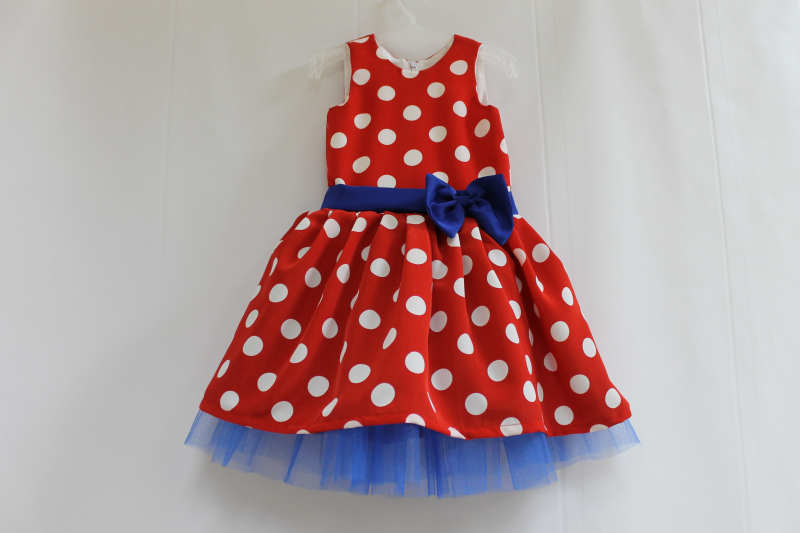 Нарядное платье на девочку в горошек № 86