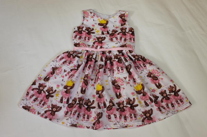 Летнее платье  Гламурные мишки