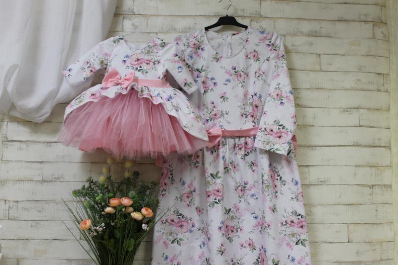 Платья на маму и доченьку № 120