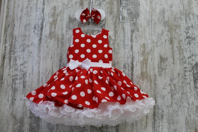 Платье на девочку в стиле минни маус № 89
