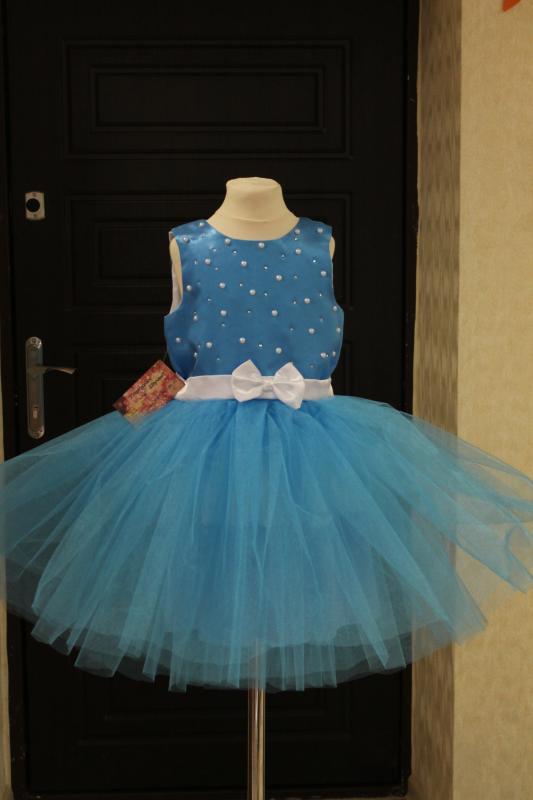 Супер пышное платье  Голубая Жемчужина