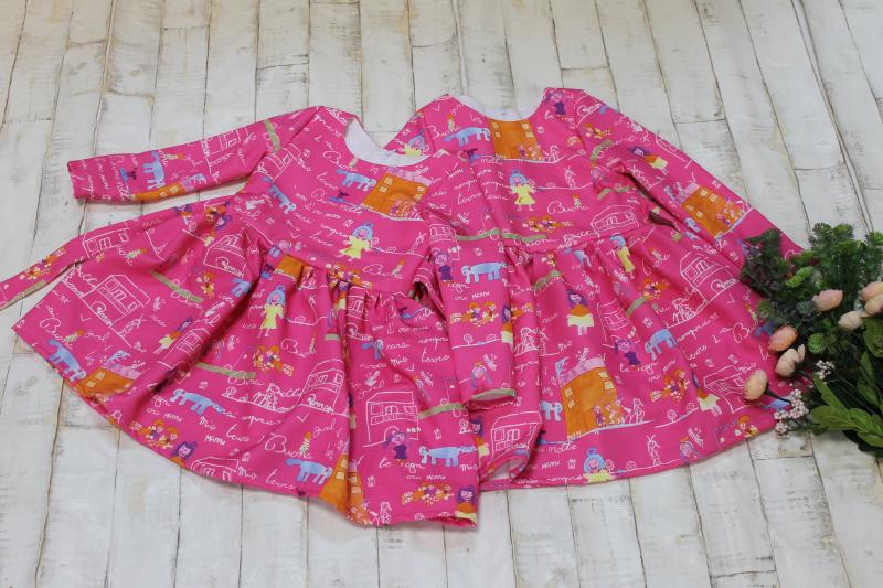 Повседневно - нарядное платье на девочку №109