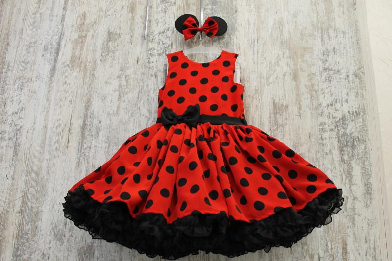 Платье на девочку в стиле  Минни Маус  № 88
