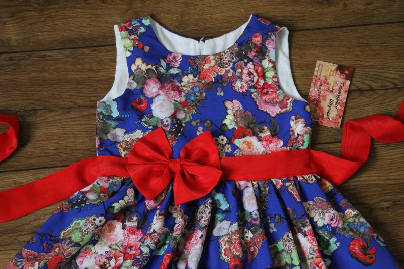 Летнее платье на девочку  Ника