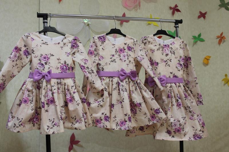 Повседневно - нарядное платье на девочку № 54