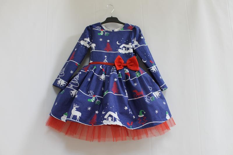 Новогоднее платье на девочку  Зимняя сказка