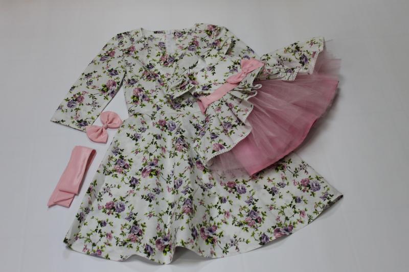 Платья на маму и доченьку в  цветочек