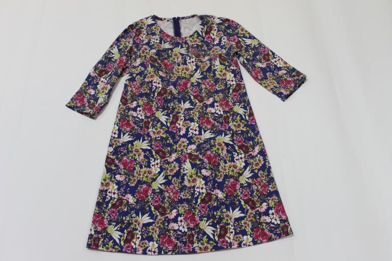 Повседневно нарядное платье на маму (цветочный джинс)