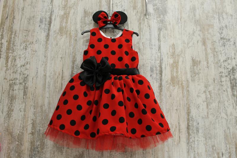 Нарядное платье на девочку с стиле Минни Маус или просто гламурный горошек