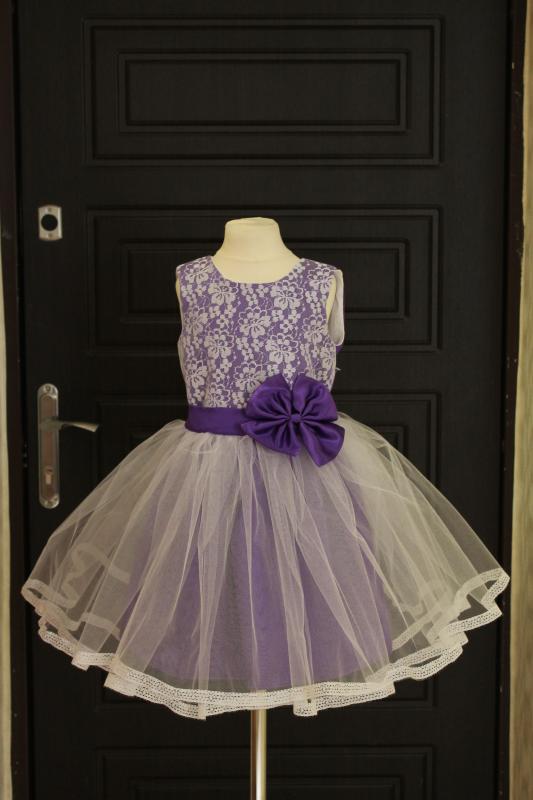 пышное нарядное платье  Ванесса! в фиолетовом цвете