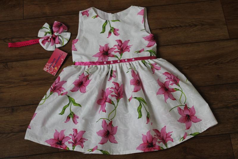 Летнее платье  Гламурная лилия