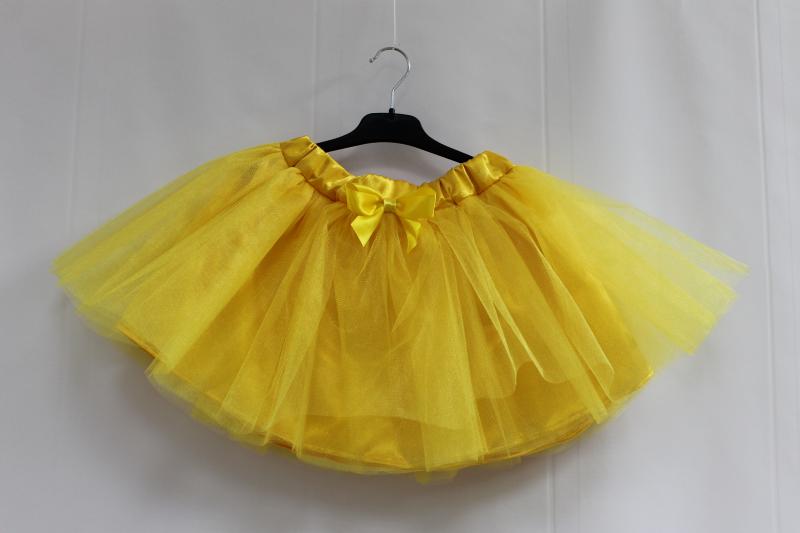 Нарядная юбочка пачка в желтом цвете