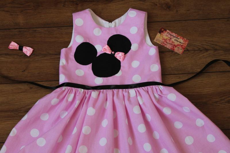 Платье на девочку  Розовый Минни Маус
