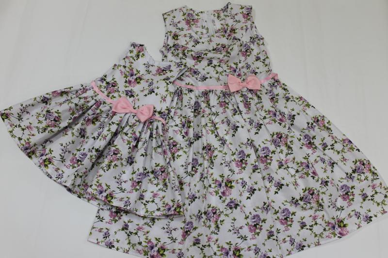 Повседневно - Нарядные платья на маму и доченьку в стиле  Family Look  цветочное настроение