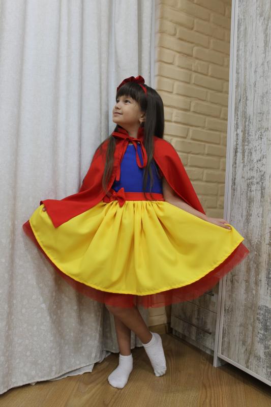 Нарядное платье белоснежка 122