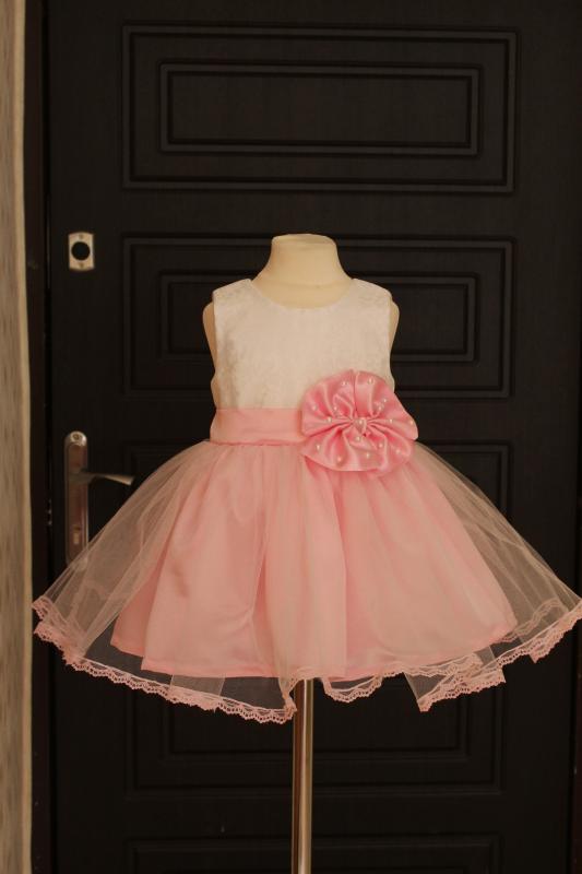 Нарядное платье  Кружевная сказка  в розовом цвете