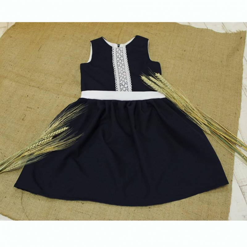 Платье - сарафан в школу #116