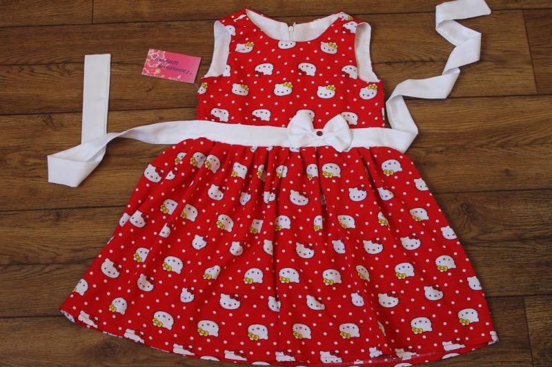 летнее платье  Hello Kitty