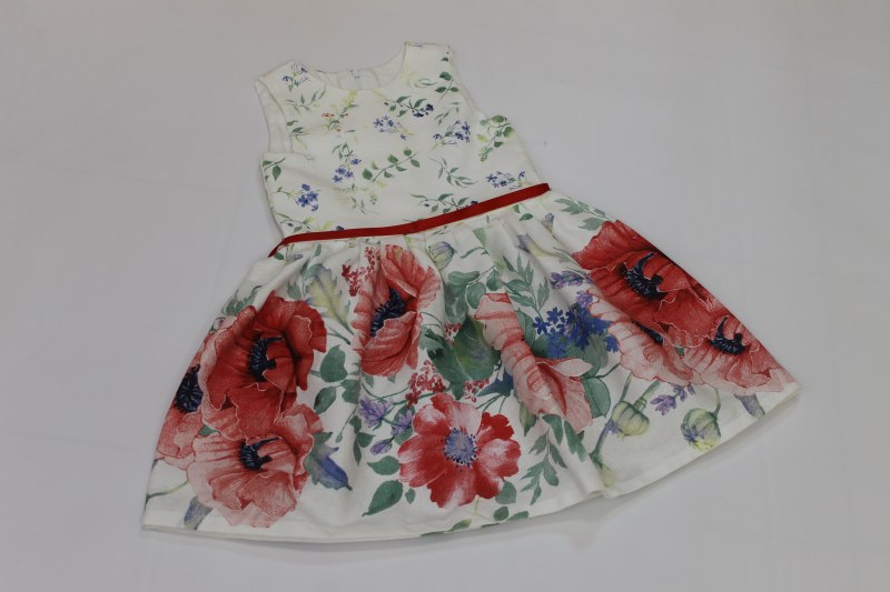 Повседневно - нарядное платье на девочку  Модная маковка  без рукавов