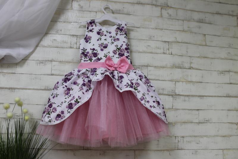 платье на девочку в цветочек № 1233