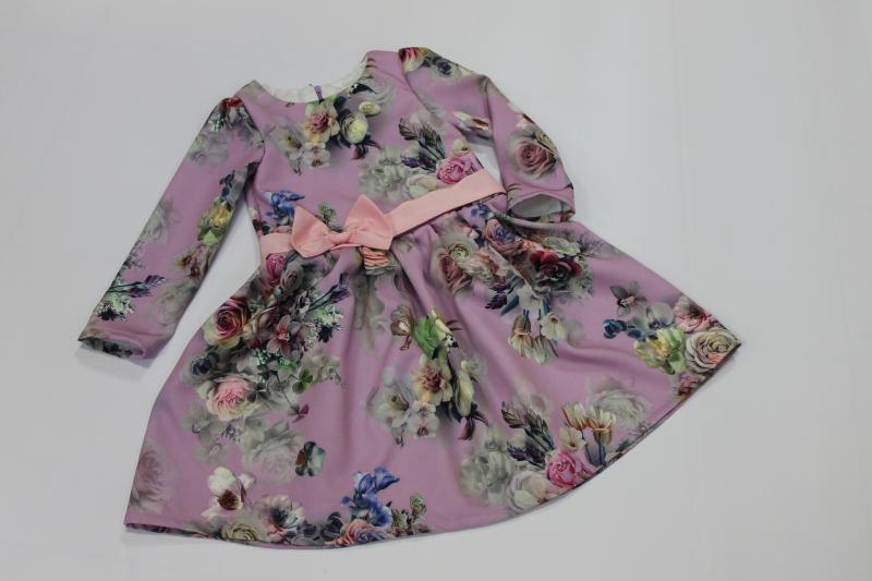 Повседневно - нарядное платье на девочку с рукавами