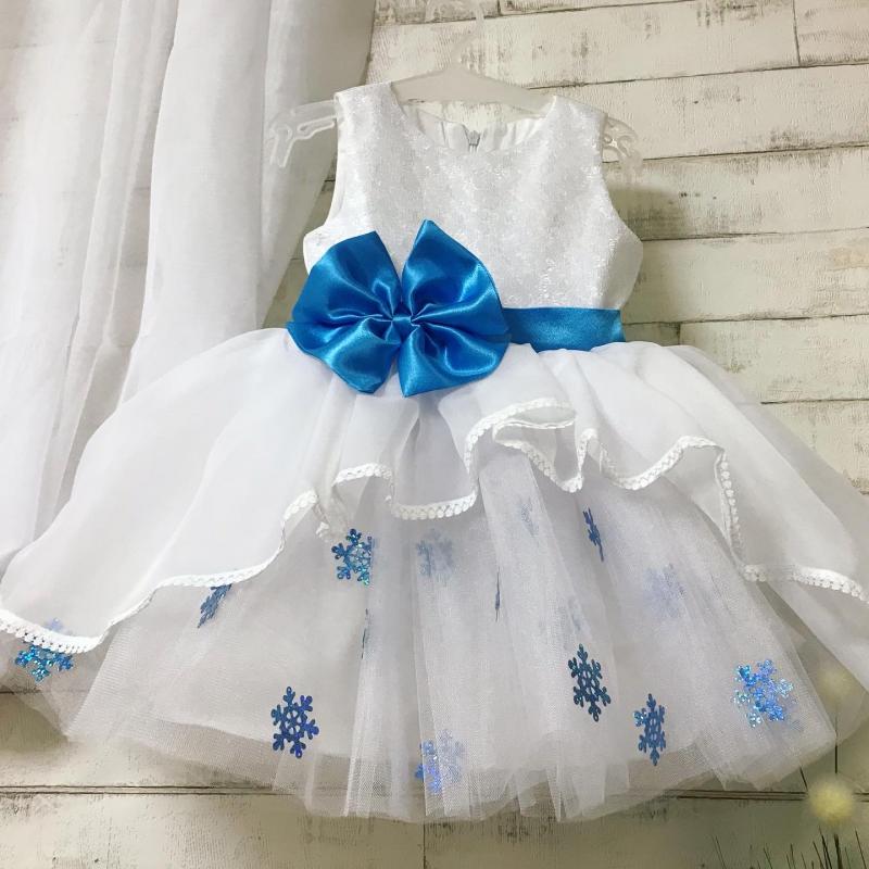 Нарядное платье снежная принцесса