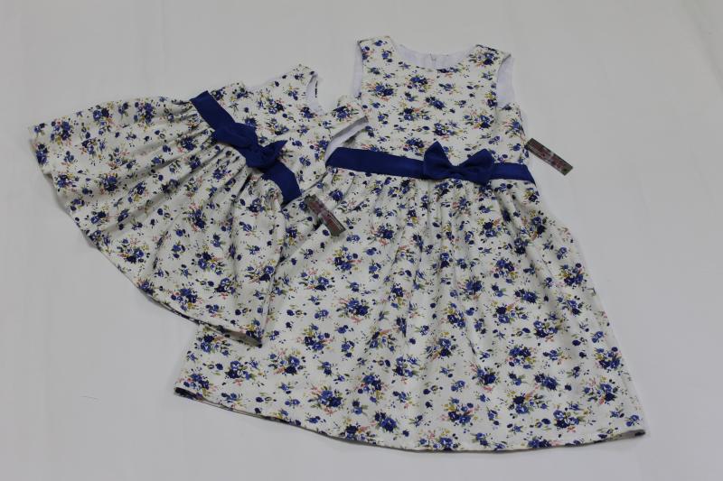 Повседневно - нарядное платье на девочку  Синенький цветочек