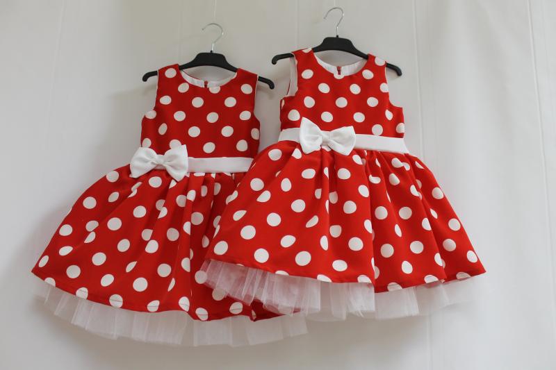 Нарядное платье на девочку в горошек № 64