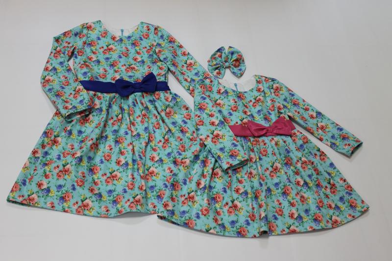 Повседневно - нарядное платье на девочку №  57 с рукавами