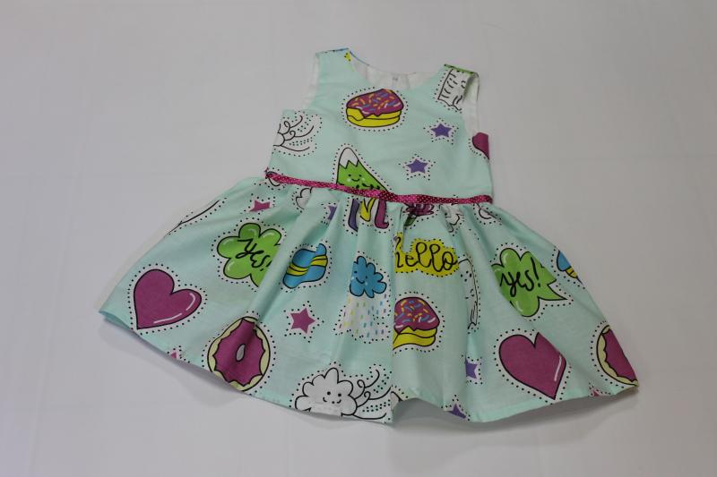 Платье на девочку  Яркая вкусняшка