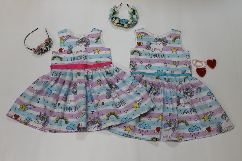 Платье с единорожками № 95