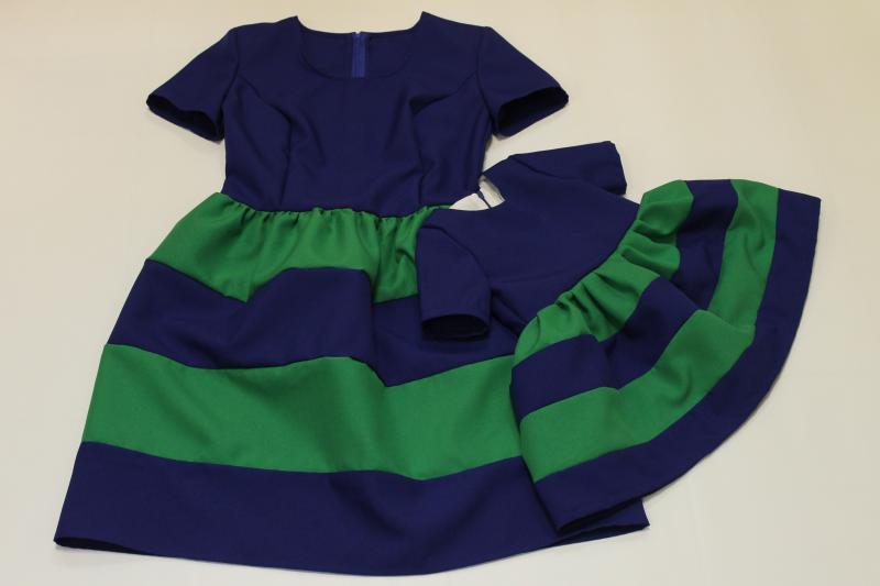 Платья на маму и доченьку с рукавчиками № 87