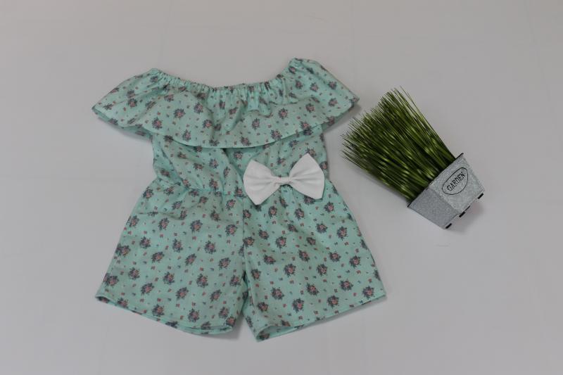 Летний ромпер на девочку с натуральной ткани №109
