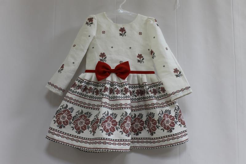 Повседневно - нарядное платье на девочку в укр стиле  Вышиванка